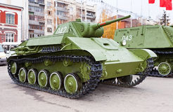 Old soviet light tank T-70 Royalty Free Stock Photo