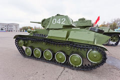 Old soviet light tank T-70 Stock Image
