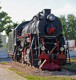 Old soviet locomotive Stock Image