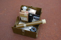 Old Soviet military set for chemical weapon check Stock Image