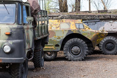 Old soviet military ussr vehicles Stock Images