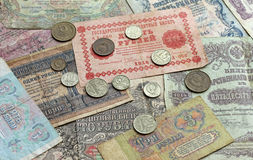 Old Soviet money background Royalty Free Stock Photo