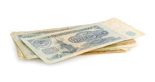 Old soviet money Stock Image