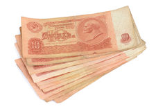 Old soviet money Royalty Free Stock Photography