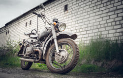 Old Soviet motorcycle Royalty Free Stock Images