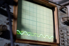 The old Soviet oscillograph with diagramas Royalty Free Stock Images