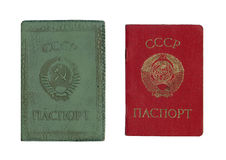 Old soviet passport. With cover Stock Image