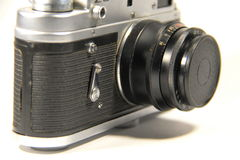 Old soviet photo camera Stock Image