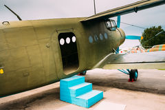 Old Soviet Plane Paradropper Aircraft Stock Photography
