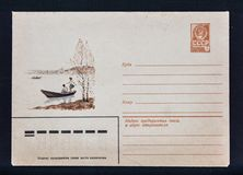 Old Soviet post envelope Stock Photo