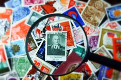 Old Soviet postage stamps Stock Photos