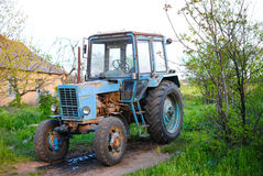 Old Soviet powerful tractor named Belarus Royalty Free Stock Images