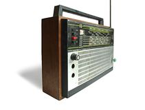 Old soviet radio receiver Royalty Free Stock Photos