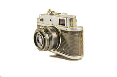 Old soviet rangefinder camera isolated on white background. Old soviet rangefinder camera isolated on a white background Stock Images