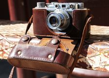Camera FED. The old Soviet rangefinder film camera FED Stock Image