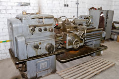 Old Soviet screw-cutting lathe Royalty Free Stock Photo