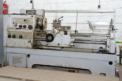 Old Soviet screw-cutting lathe Stock Photography