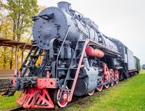 Old Soviet steam train Stock Images