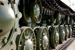 Old soviet tank Royalty Free Stock Photos