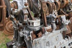 Old Soviet tank engine Stock Photos