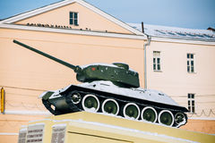 Old soviet tank like monument in Gomel, Belarus Stock Image