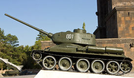 Old soviet tank. Royalty Free Stock Images