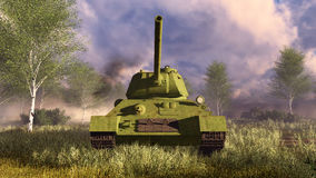 Old soviet tank T-34 frontal view Royalty Free Stock Images