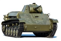Old soviet tank T-70, isolated on white Royalty Free Stock Photos