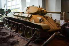An old Soviet tank from world war II stock photo