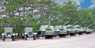 Old soviet tanks Royalty Free Stock Images