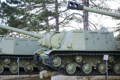Old soviet tanks Royalty Free Stock Image