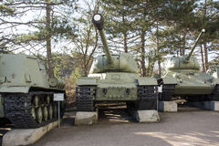 Old soviet tanks Stock Photography