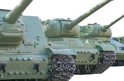 Old soviet tanks Royalty Free Stock Photos