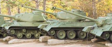 Old soviet tanks Stock Image
