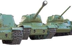 Old soviet tanks Royalty Free Stock Photography