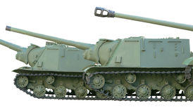 Old soviet tanks Stock Photos