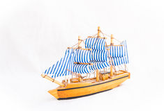 The old Soviet toy. Wooden model sailing yachts Royalty Free Stock Images