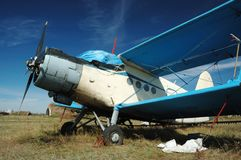Old soviet transport biplane An-2 Stock Image