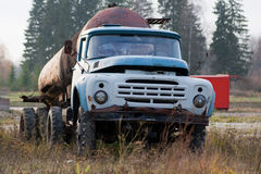 Old Soviet truck Stock Photo