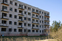 Old Soviet Union military base Stock Photography