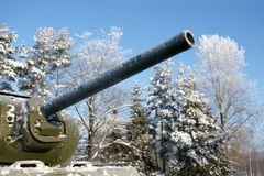 Old Soviet Union tank. Memorial Royalty Free Stock Image