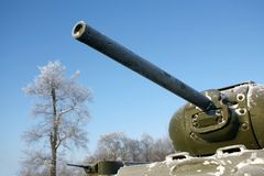 Old Soviet Union tank. Memorial Royalty Free Stock Images