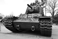 Old Soviet Union tank Royalty Free Stock Photography