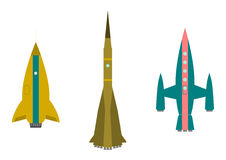 Retro rockets Royalty Free Stock Images