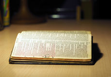An old spanish Bible Stock Photo