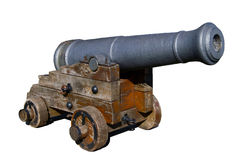 Old spanish cannon stock image