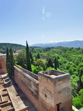 Old Spanish castle in Granada. Alhambra. Spain Royalty Free Stock Photo