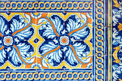 Old spanish ceramic tiles Stock Photo