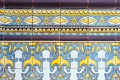Old spanish ceramic tiles wall Stock Photos