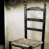 Old spanish chair. Old spanish style chair on stage tablado flamenco Stock Image